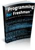 Programming for Freshman  mrr